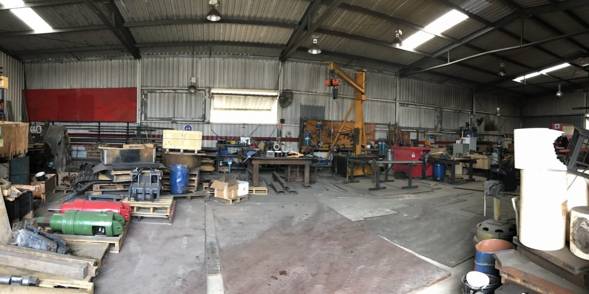 workshop for earth mover repairs and fabrication